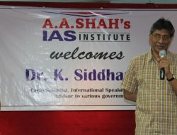 A A Shah's IAS welcomes