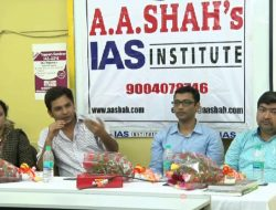 Topper Seminar at A A Shah IAS