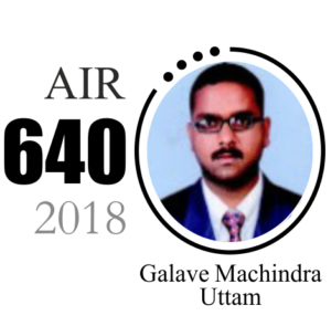 Galave Machindra Uttam AIR 640 UPSC CSE 2018