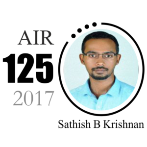 Sathish Krishnan UPSC AIR 125 2017