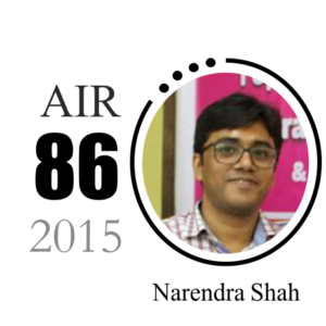 Narendra Shah IAS 2015 AIR 2015